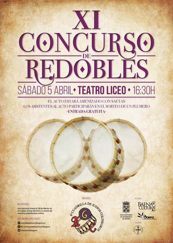 Cartel XI Concurso de Redobles